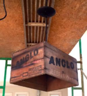 Antique Crate Light Fixture DIY