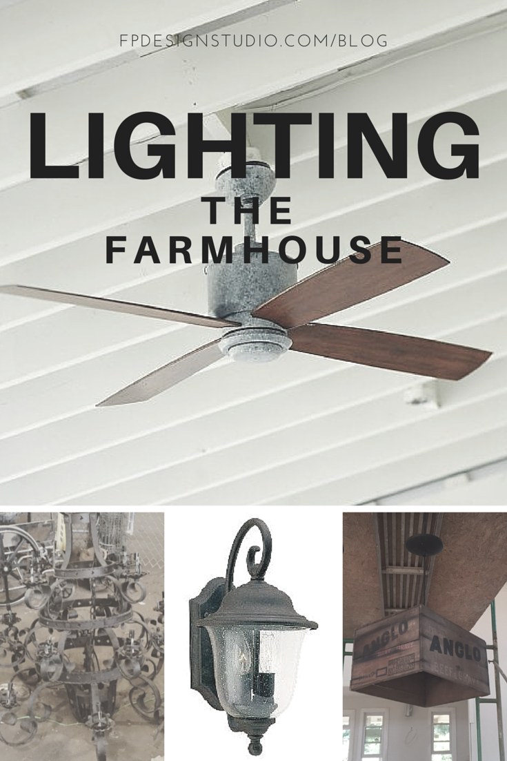 Farmhouse Ceiling Fan and Lighting