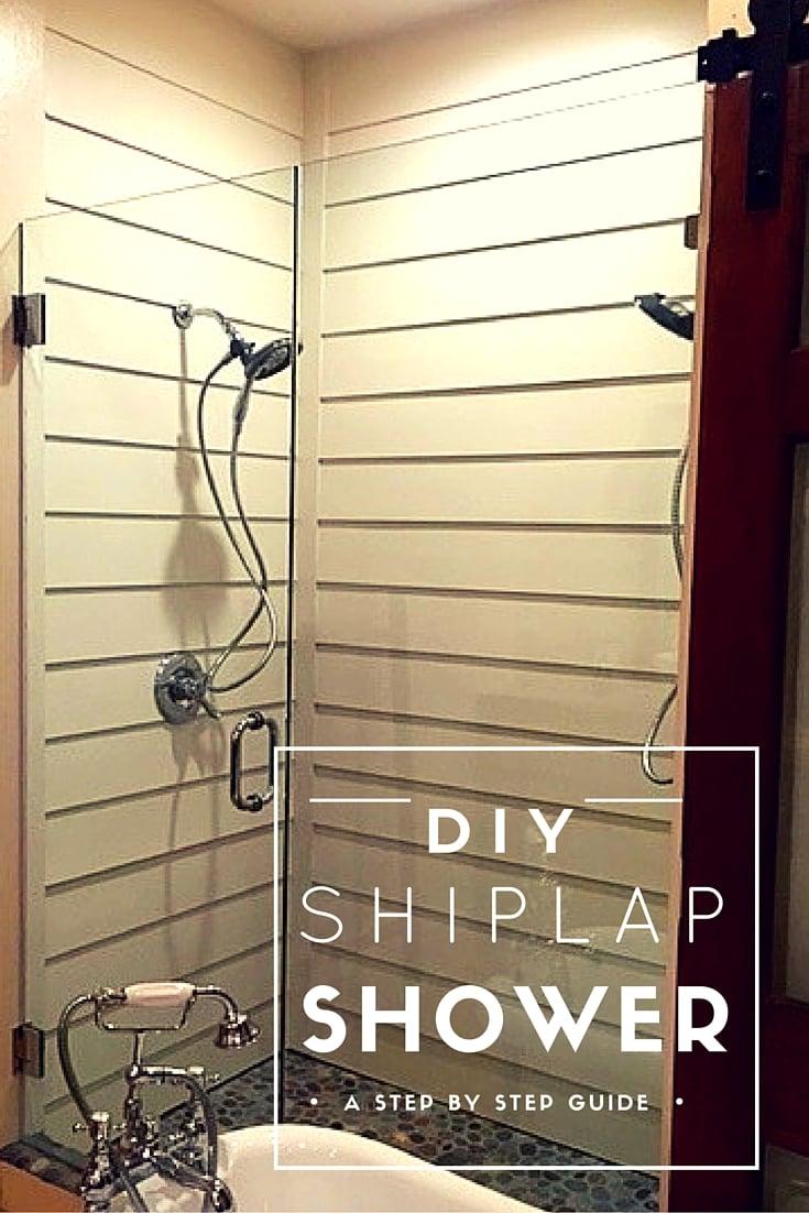 shiplap shower diy
