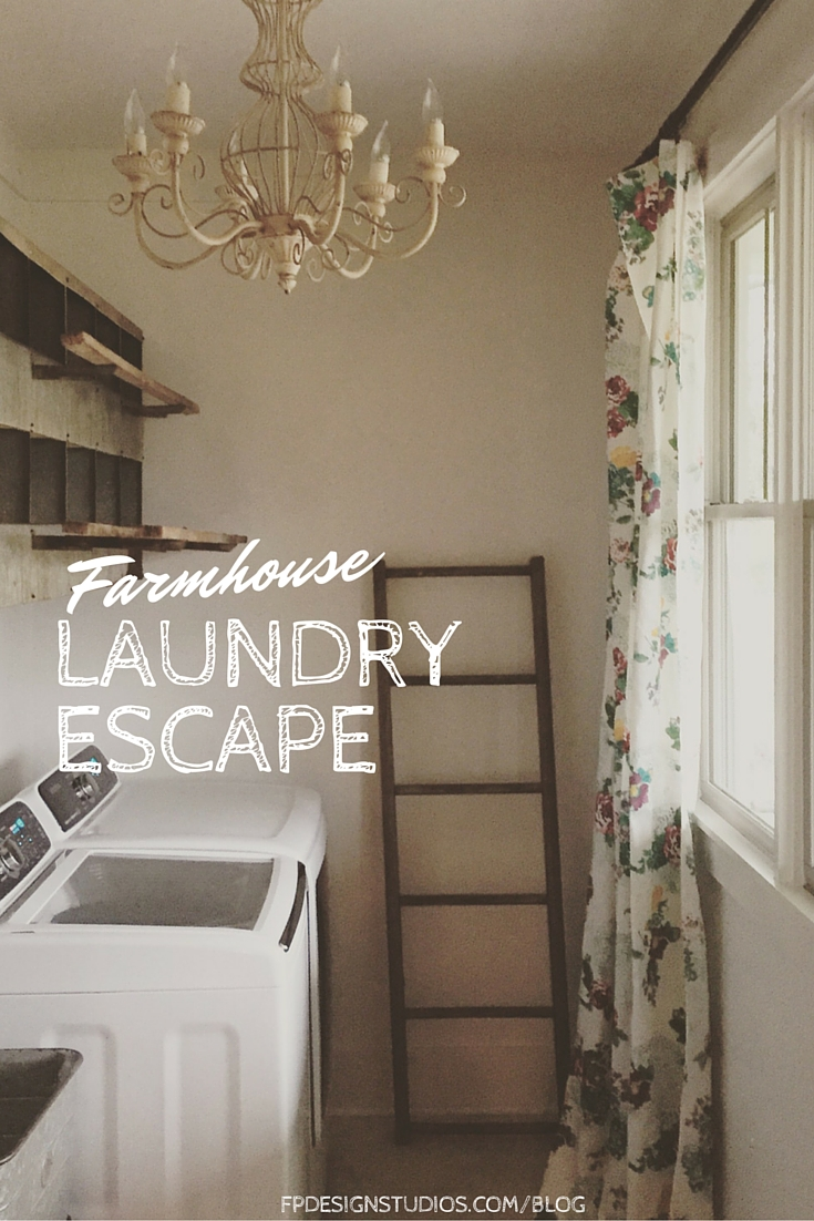 Farmhouse Shabby Laundry Room