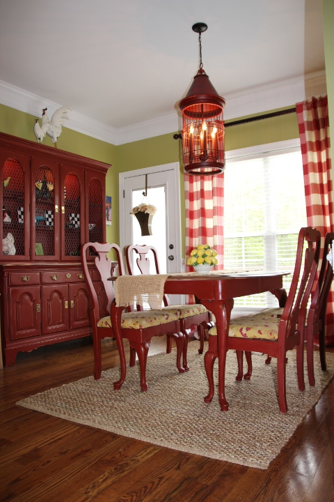 Red Chalk Paint Dining Set