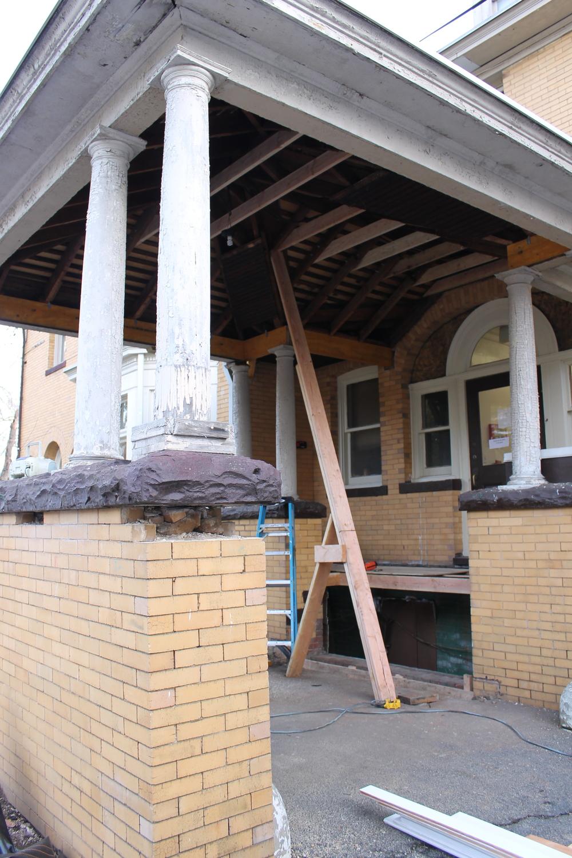 Side Porte-cochere restoration