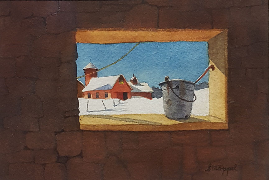 """Winter Morning"" by Betty Stroppel Size: 7.5 x 9.5 in.  $100"