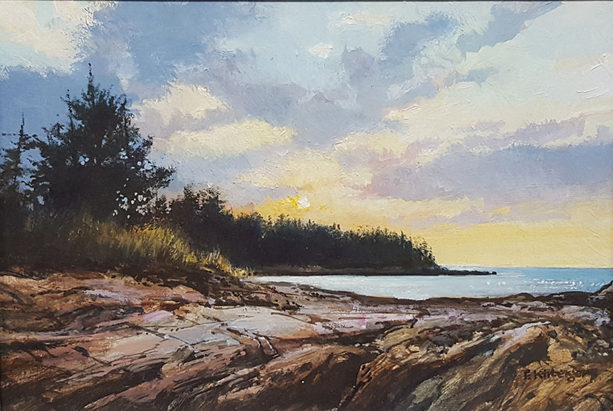 """Casco Bay Sunset"" by Fredrick Kirberger Size: 6.5 x 8.5 $475"