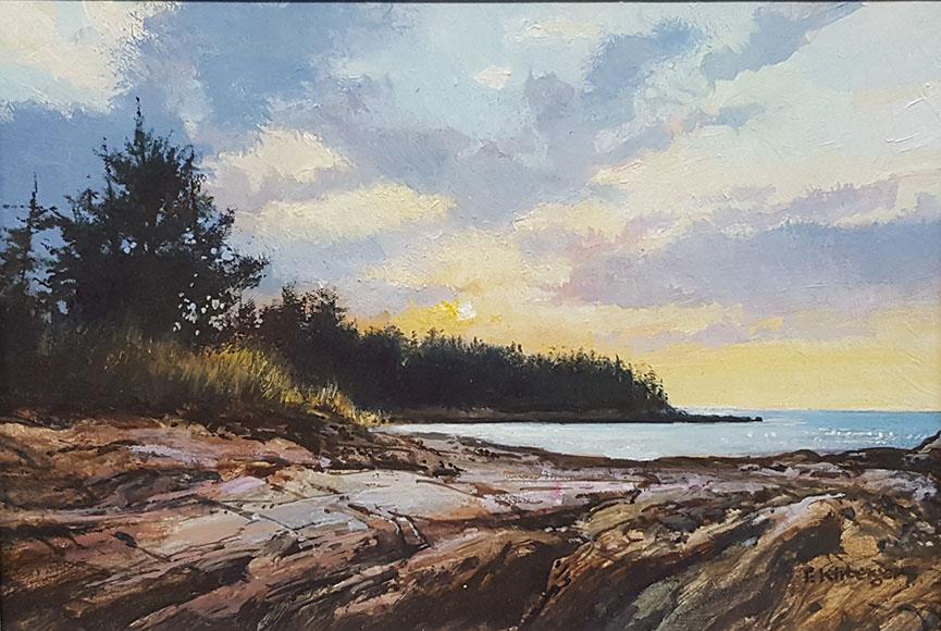"""Casco Bay Sunset"" by Fredrick Kirberger Size: 6.5 x 8.5 $475"