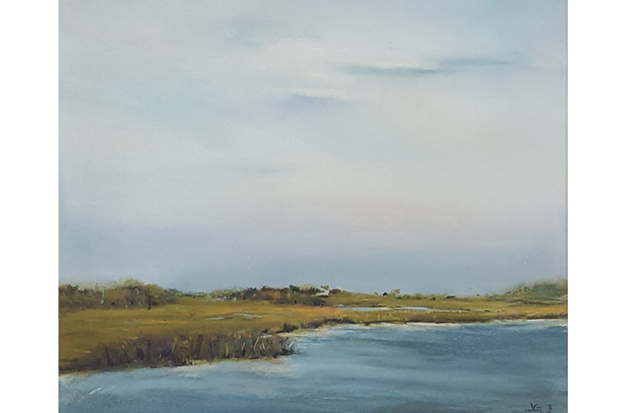 """Marsh Series 3"" by Jeri Greenberg Size: 14 x 15.75 $300"