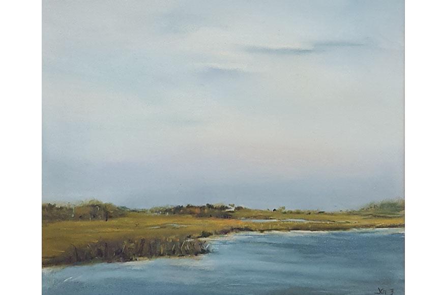 """Marsh Series 3"" by Jeri Greenberg Size: 14 x 15.75 $300"