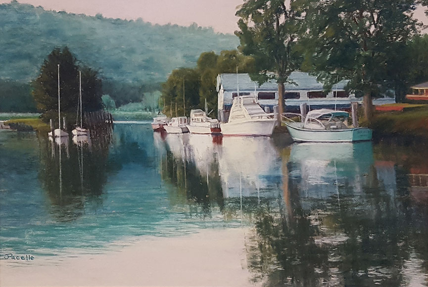 """Peaceful Harbor"" by Joan Pacelle Size: 17 x 21 in.  $300"