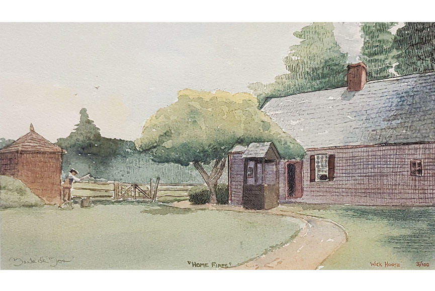 """Wick House/Home Fires"" by Mark de Mos Size: 13.25 x 17.25 $100"
