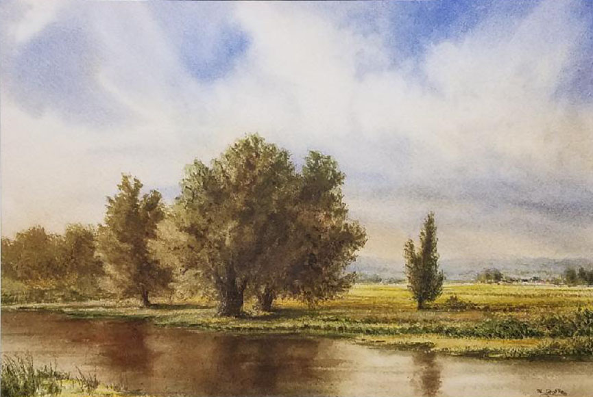 """A Quiet Place"" by Al Grafke Size: 14.75 x 18.5 in.  $375"