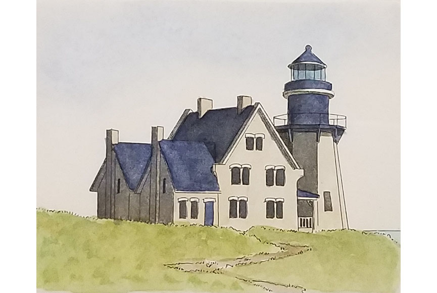 """Block Island R.I."" by Larry Harris Size:  10 x 12 in.  $125"