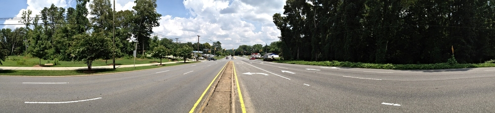 Wilkinson Boulevard at Catawba Street, looking east