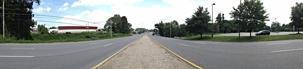 Wilkinson Boulevard at Hawley Avenue, looking east