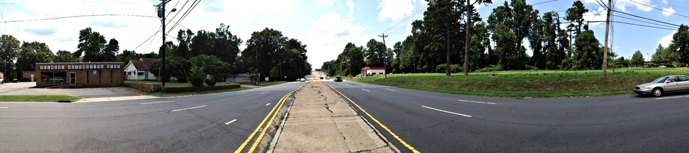 Wilkinson Boulevard at Hawley Avenue, looking west
