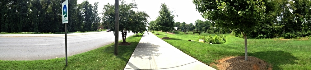 Wilkinson Boulevard sidewalk at SECU property