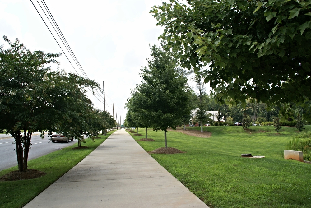 Wilkinson Boulevard sidewalk at State Employees' Credit Union