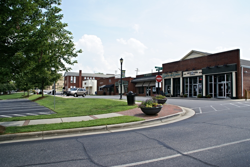 Front Street, downtown Cramerton