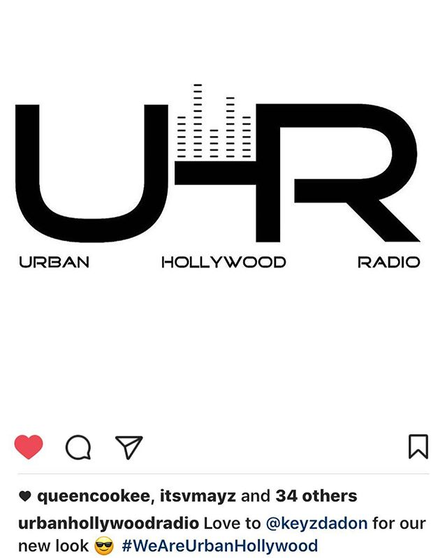 Satisfied logo customer!  S/O to @urbanhollywoodradio for allowing me to construct their new look and vision.  #logo #logodesigner