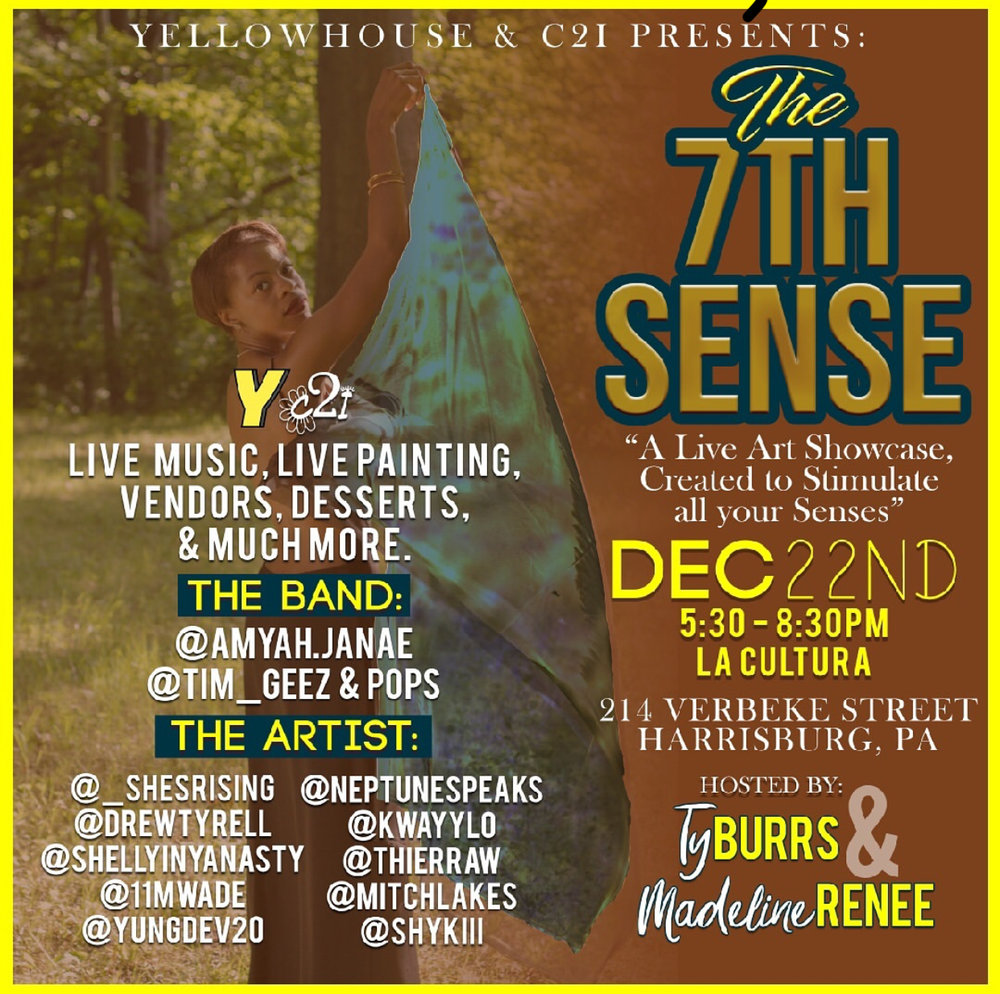 Check out drewtyrell Dec 22nd this winter season, live at La Cultura in Harrisburg.