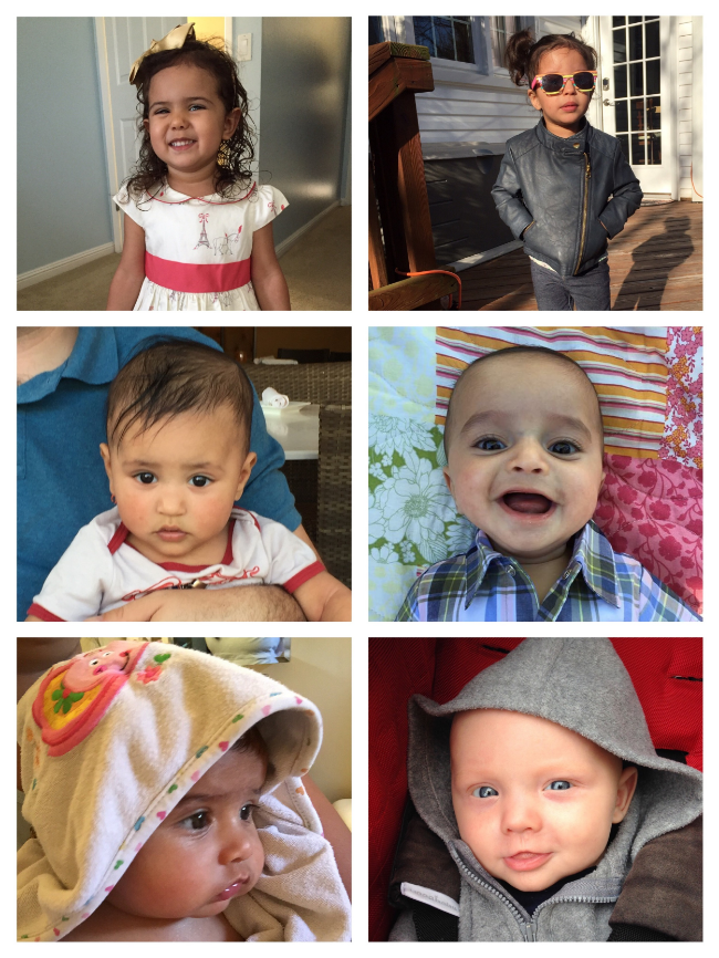 Photo credit : Asha. From top to bottom and left to right: Maya, Lexi, Theodore, Anderson, Kai, Micah.