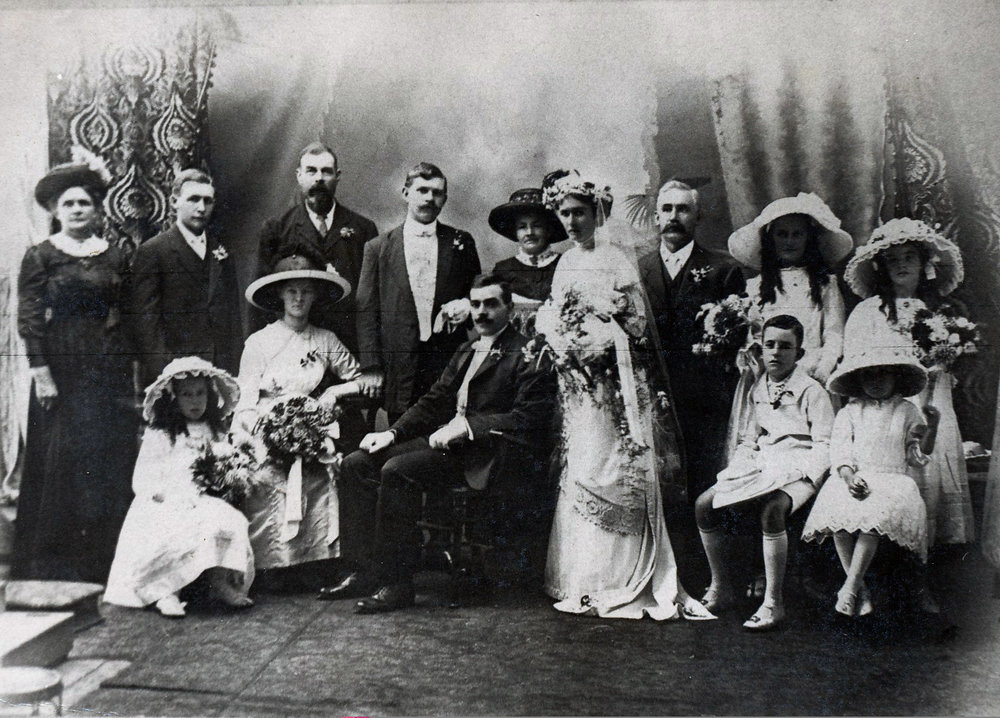 Wedding of Johan Benson and Eleanor Emmerson 1923, Photograph by unknown.