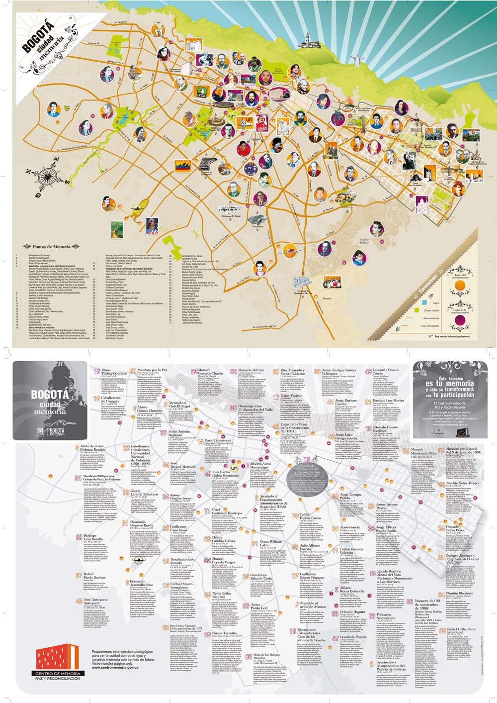 Figure 2: Bogota Ciudad Memoria (Mapa Principal). Image taken from: Centro de Memoria Paz y Reconciliación.
