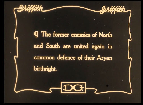 Image 5. Intertitle  The Birth of a Nation  (1915). Accessed via Internet Archive.
