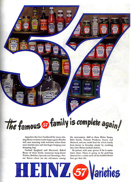 Image 10. An example of Heinz's 57 Varieties ad campaign. flickr user Jamie. CC-BY-2.0