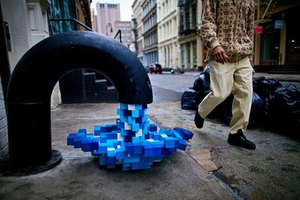 """ Pixel Pour 2.0 "" by Kello Goeller  2011"
