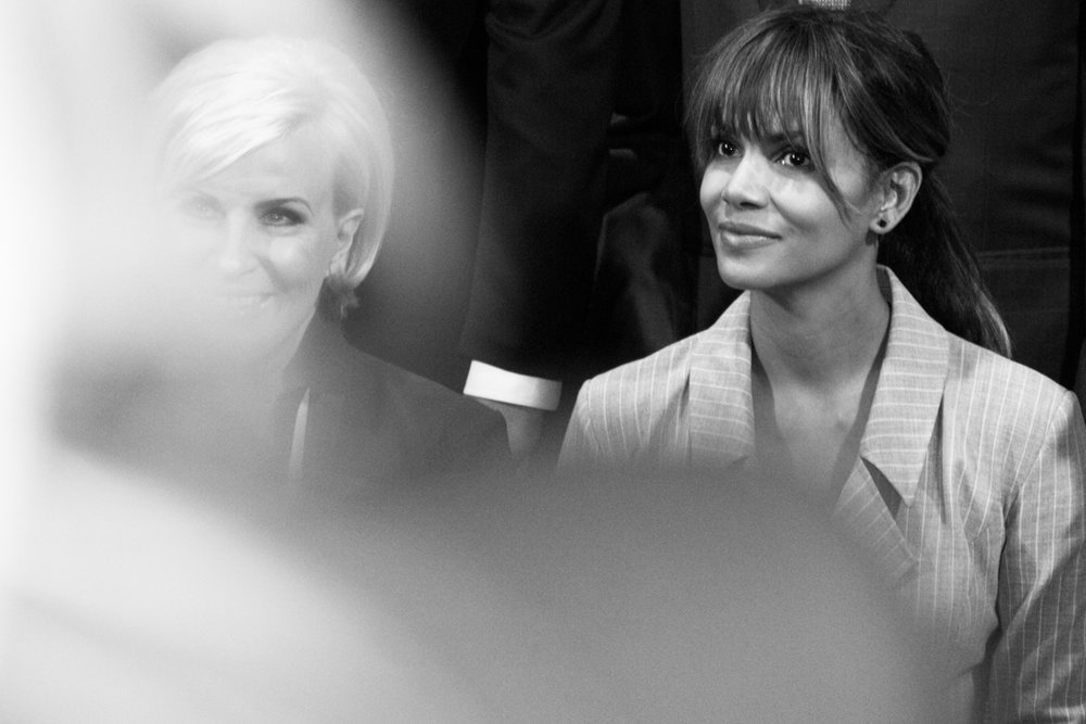 Mika Brzezinski and Halle Berry at the 2018 Matrix Awards