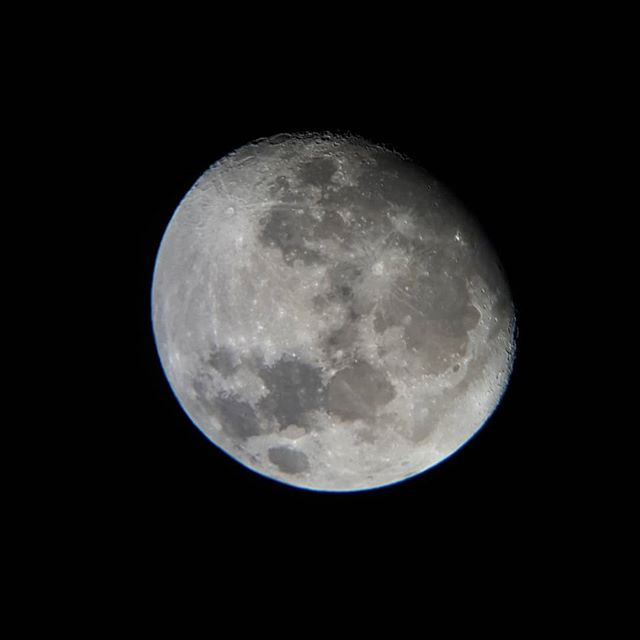 Took the scope out tonight for some more beautiful lunar views like this one as well as spotting Saturn with a full view of it's rings and the dumbell nebula. It was tight. 💯