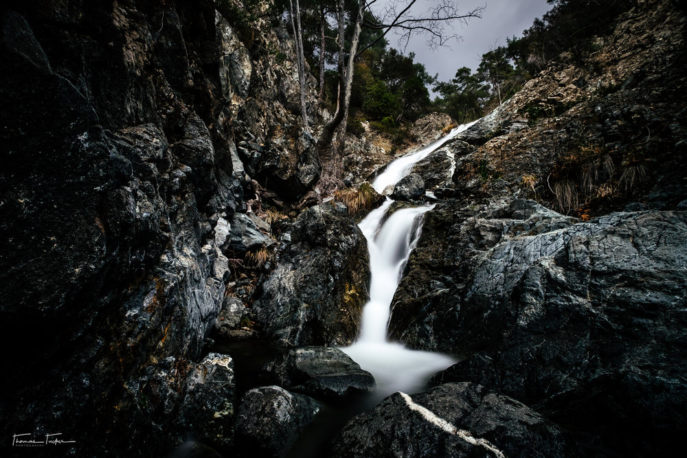 Hantara Falls up in the Troodos range has to be the best set of falls I have hit on Island yet.  Take the time as well to hike up the stream past the main set of falls or up the adjacent hills for a nice view!