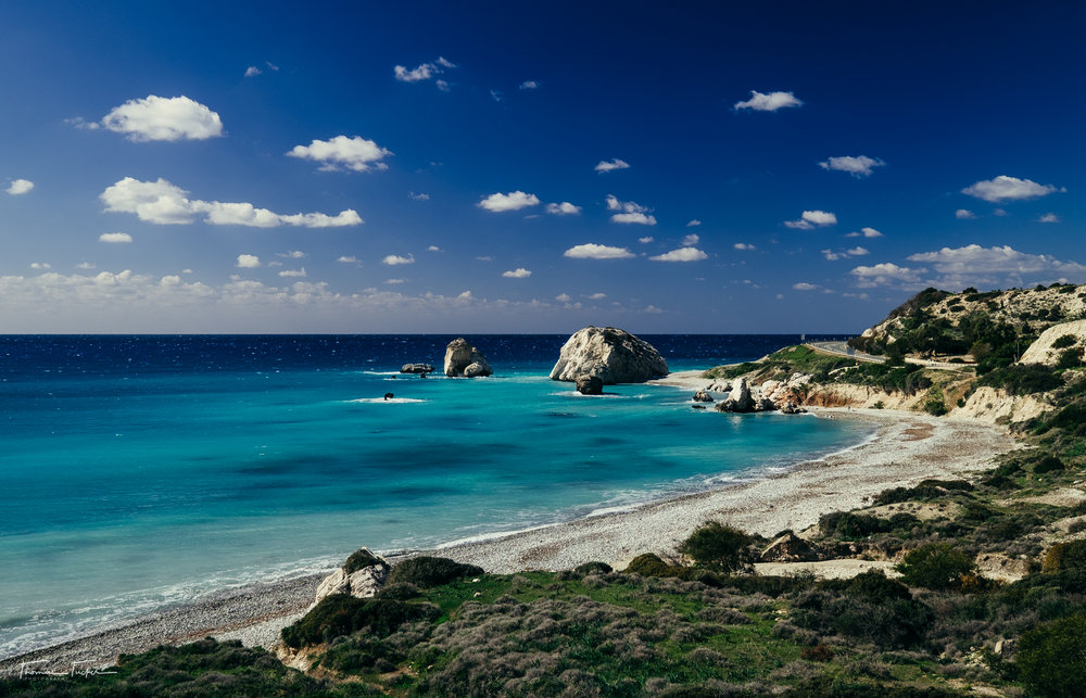 Said to be the birthplace of Aphrodite, goddess of love and fertility.  This stop on Cyprus is worth seeing rain or shine.  The road leading by the beach offers some wonderful cliffside views or you can always stop and take a dip in the water in warmer months.