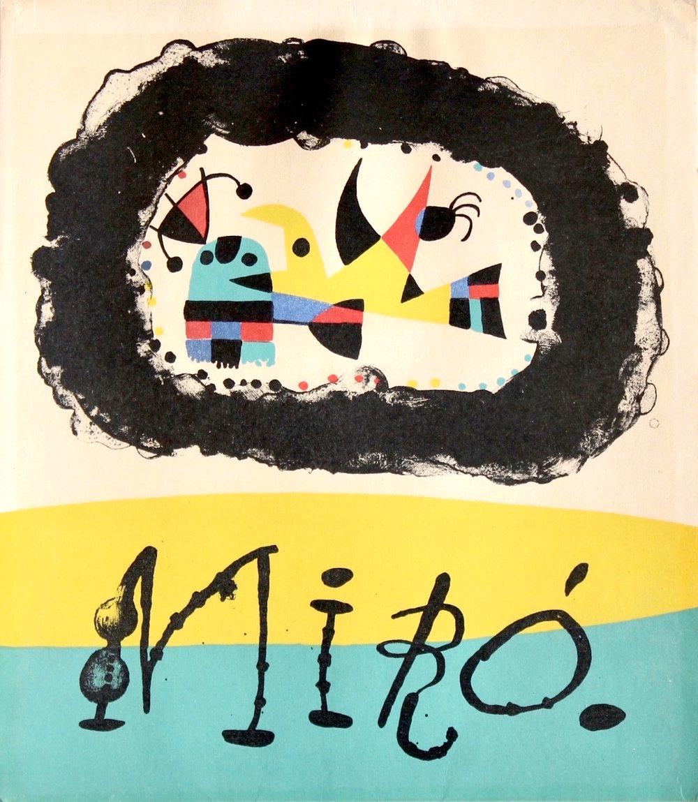 """""""Joan Miro par Jacques Prevert, couverture"""", Lithograph, 9 1/8"""" x 8"""""""