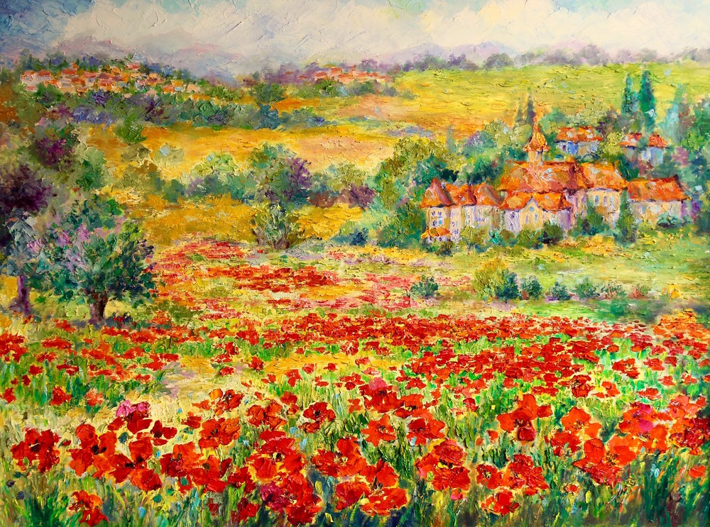 "Poppy Fields, 30""x40"""