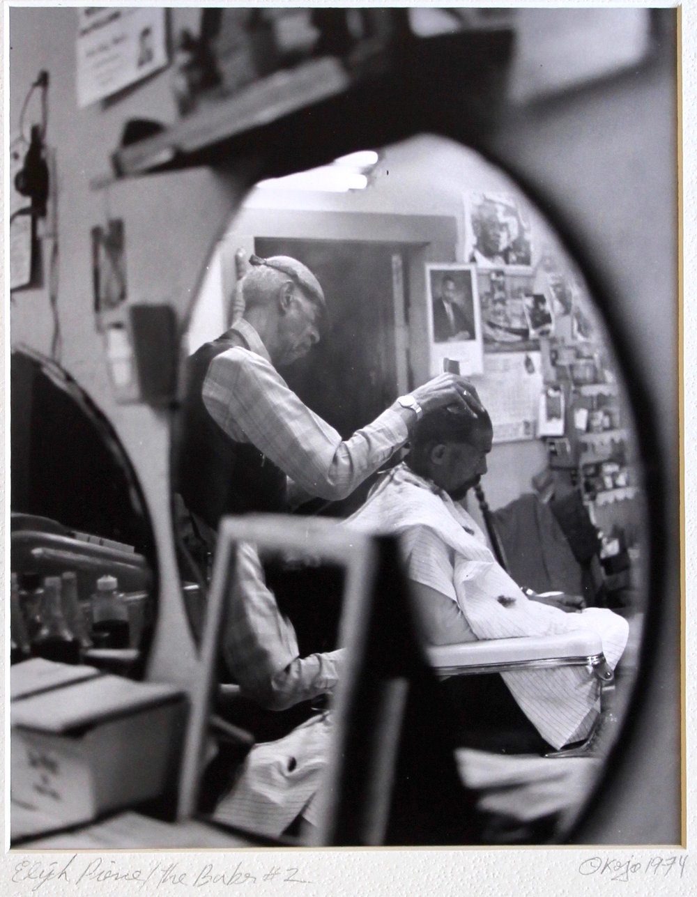 "Elijah Pierce the Barber #2, gelatin silver print, 8""x10"", 1974"