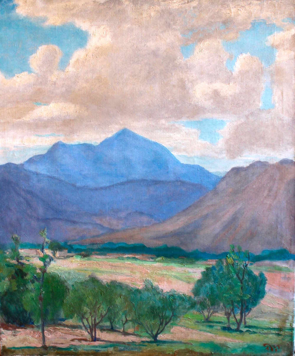 """Western Landscape"", Oil on canvas, 28 3/8 x 23 3/8 in."