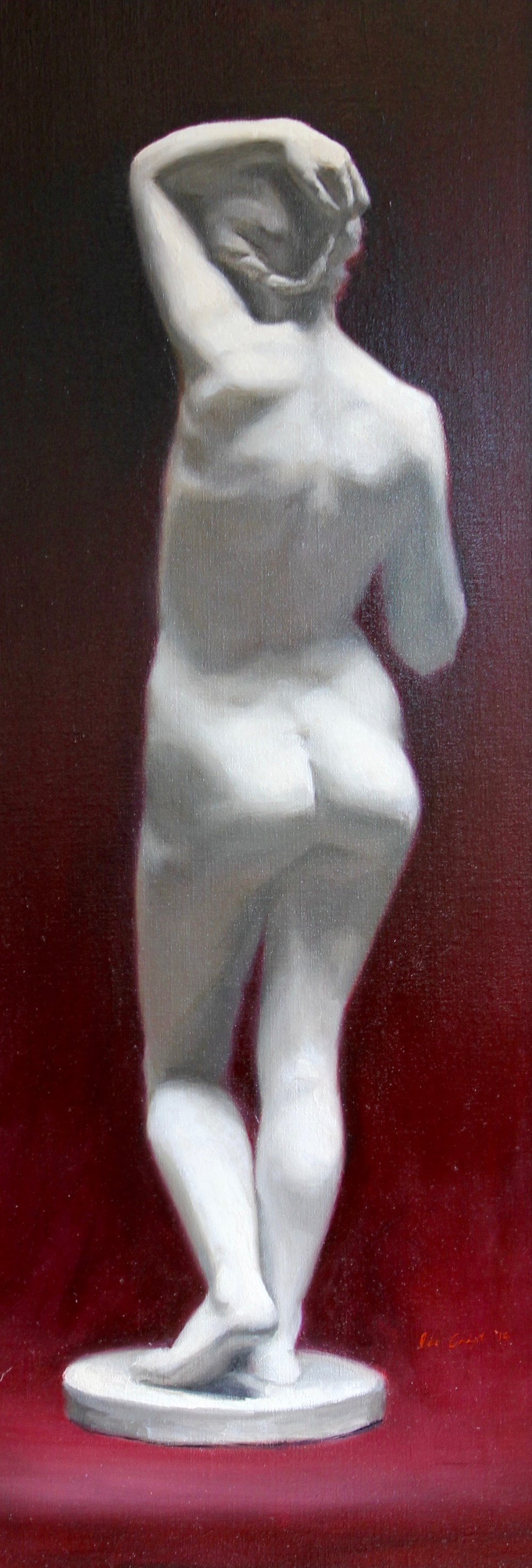"""Nude"", Oil on linen, 39x14 in."
