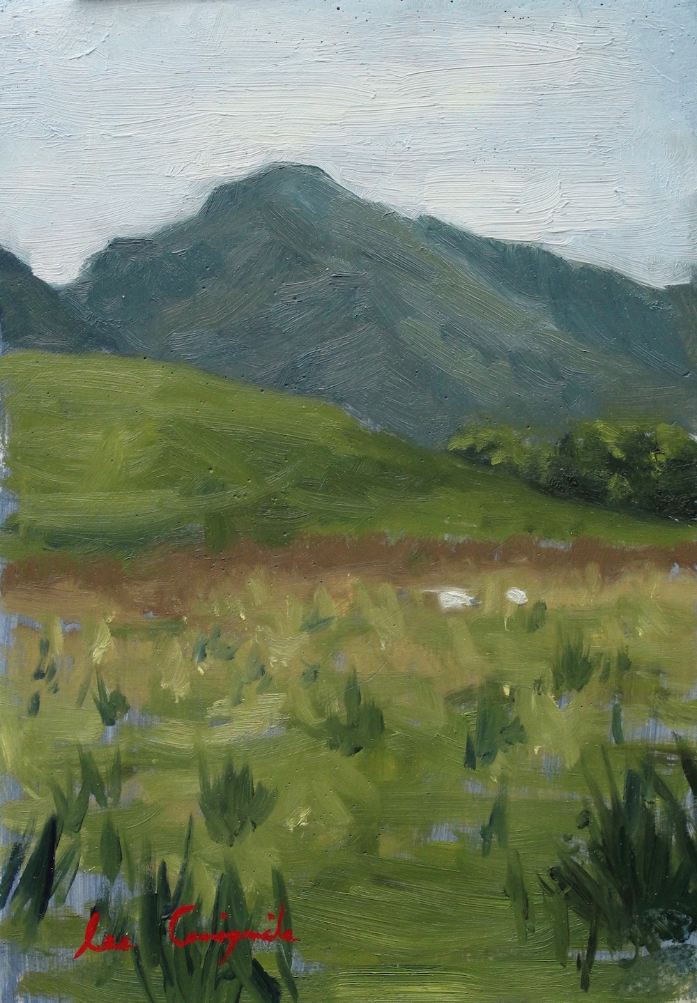 """View from the Glen"", 8x6 in, Oil on panel, SOLD"