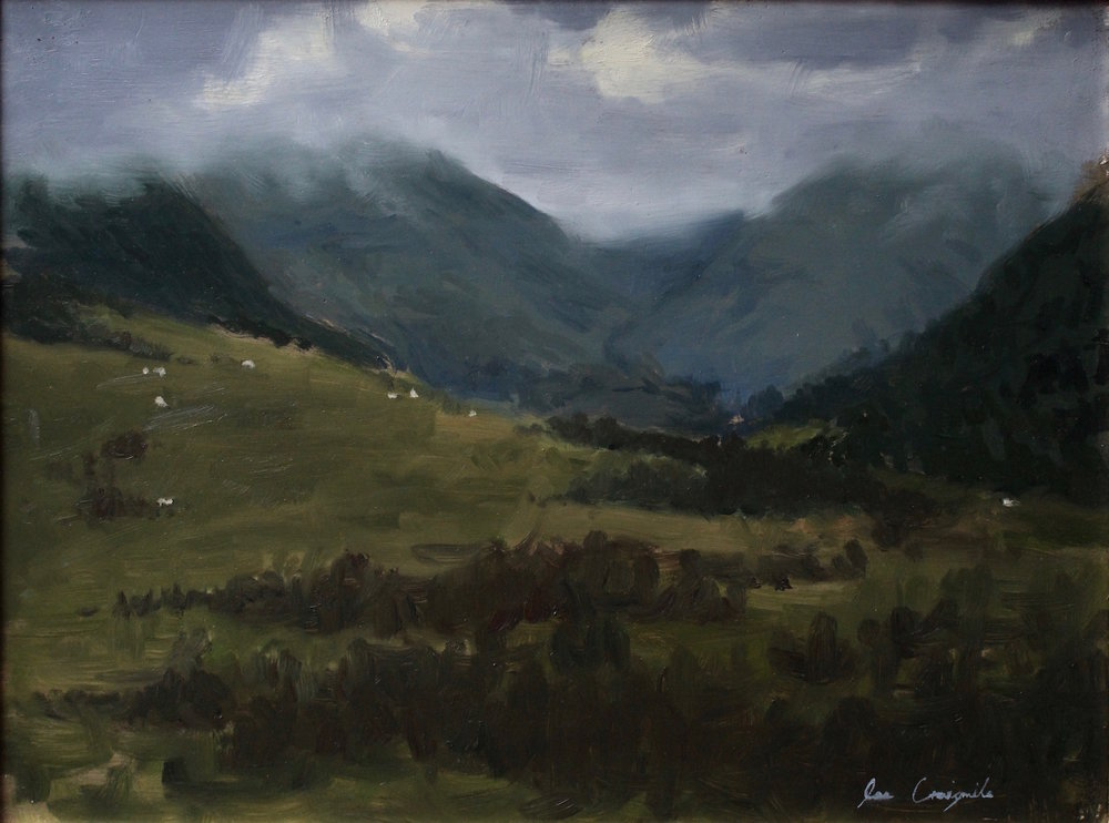 """At the Foot of the Glen"", 12x16 in, Oil on panel - SOLD"