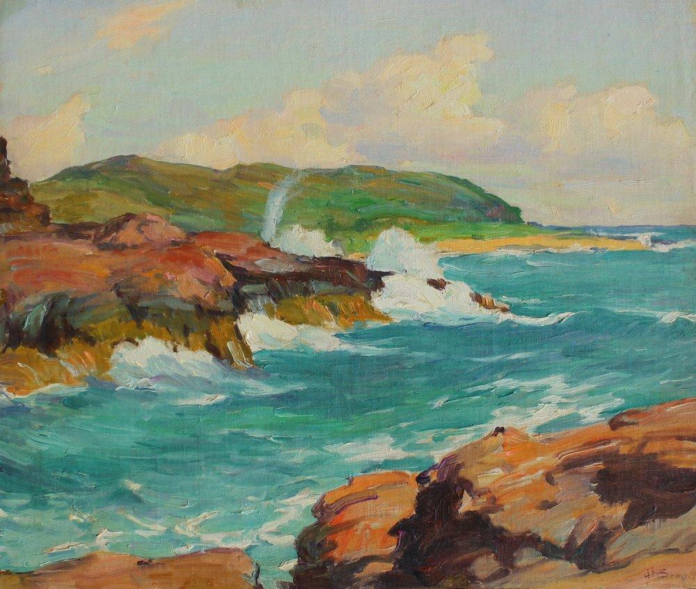 """Hawaiian Landscape"", 15x17.5 in, oil on panel"