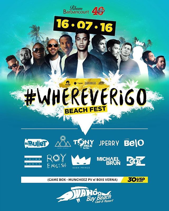 🎶☀🌴TODAY IS THE DAY!! Tickets for the summer's hottest event go on sale at: GAME BOX, MUNCHEEZ (PV) & MUNCHEEZ (Bois Verna). Get your tickets now while they last!! #WhereverIGo #BeachFest #BeTheChange 🌴☀🎶