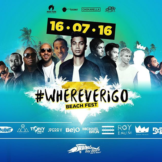 Save the date! The hottest event of the summer is here!! So much talent!! #WhereverIGo #BeachFest 🌴☀🎶 ‼️@michaelbrun @thirdpartylive @theroyenglish @edenprincemusic @atisbelo @jperryofficial @tonymixhaiti @gardygirault @balalatet @dzgot @artistsforpeace ‼️