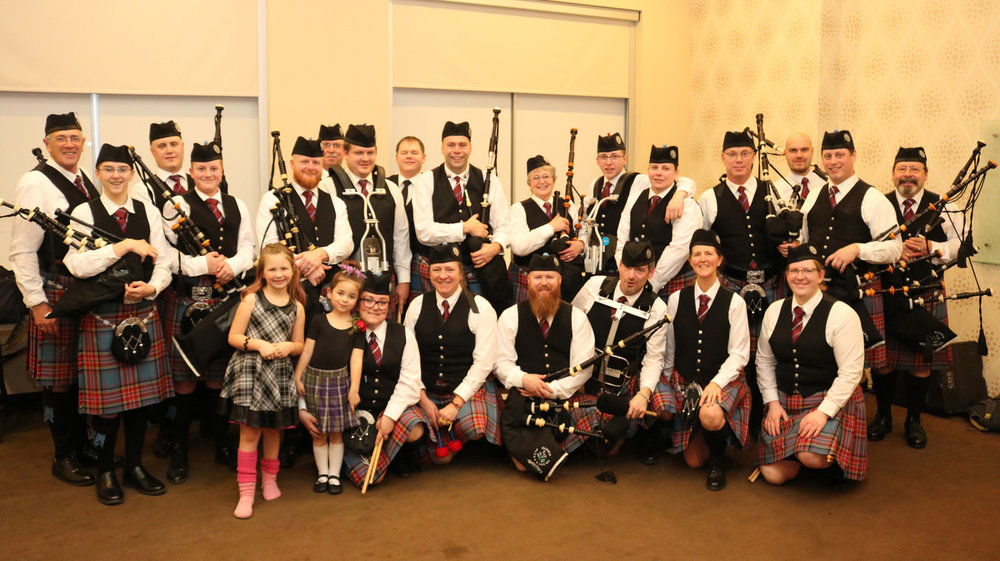 Group photo at Robbie Burns Night.  Photo by Don Kerr from Snap'd Barrie.