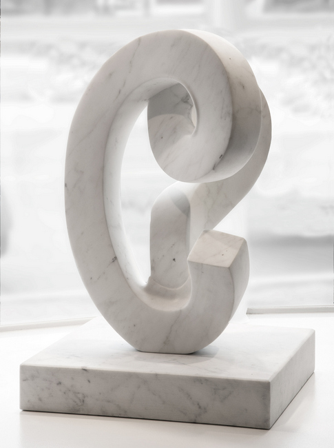 Paul Bloch,  Cycladic Thoroughfare , 2011, Carrara marble, 26 x 17 x 15 inches