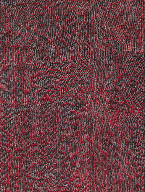 Madeleine Keesing,  Red, White & Black , 2013, Oil on canvas, 48 x 36 inches