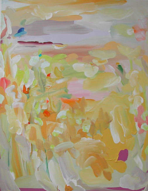South Meadow I , 2013, Oil on canvas, 71 x 55 inches