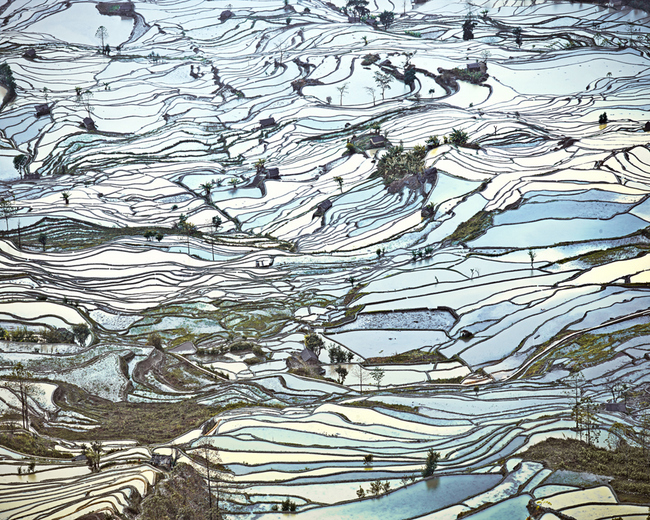 Rice Terraces (Laohuzui II) Yunnan, China , 2013, Archival pigment print, 32 x 40 inches