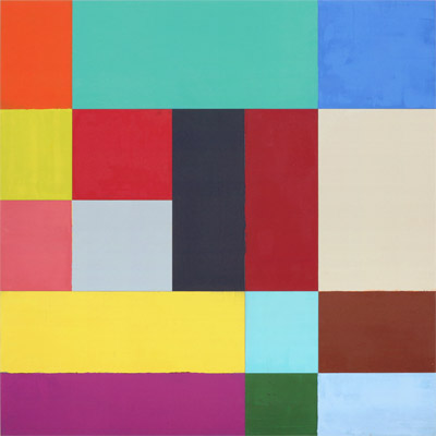 Charles Arnoldi,  Blue Moon,  2006, Oil on aluminum, 32 x 32 inches