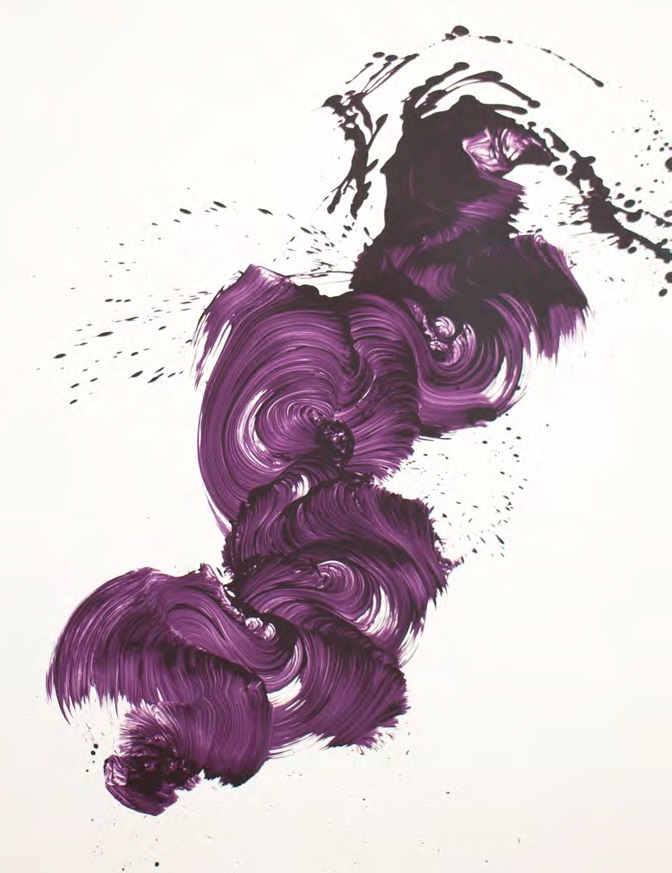 James Nares,   Step Up , 2013, Screenprint, 58 x 46 inches, AP 4 of 6